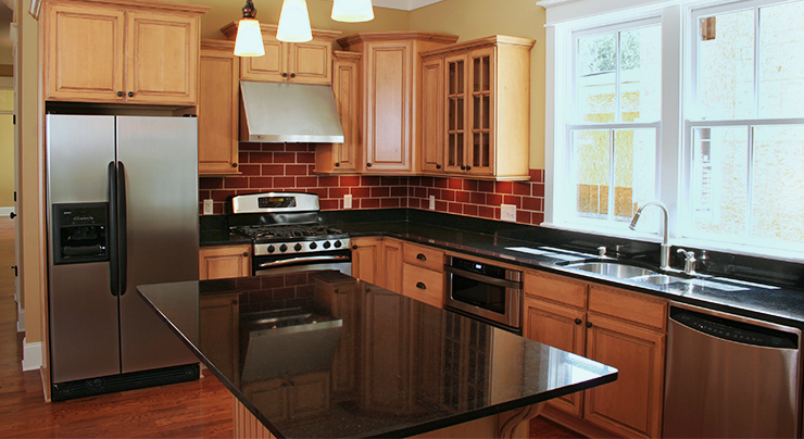 Designing Your Kitchen Around Black Granite Countertops Classic Granite Kitchen Countertops Richmond Va